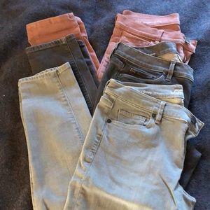 Loft Modern Skinny Jeans - lot of 3 - size 4